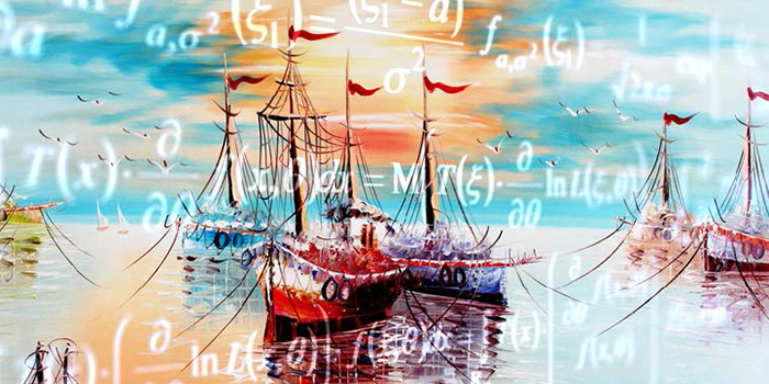Ships and equations. Graphic design: Shutterstock and Marie-Christine Rufener
