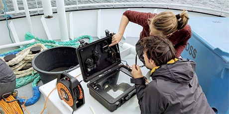 Aquatic Science and Technology field study at sea.